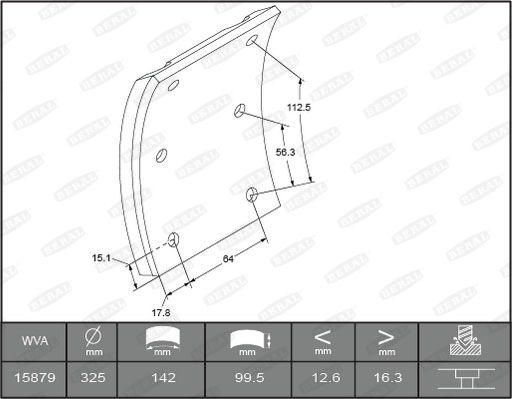 1587916506016498 BERAL Bremsbelagsatz, Trommelbremse für DENNIS online bestellen