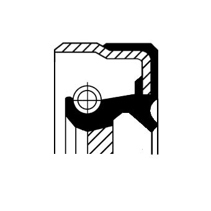 OPEL ASTRA 2019 Wellendichtring, Schaltgetriebe - Original CORTECO 01036358B
