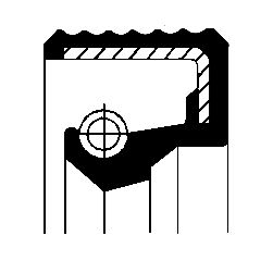 OPEL CORSA 2017 Wellendichtring, Schaltgetriebe - Original CORTECO 01036702B