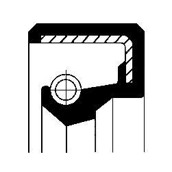 CORTECO Wellendichtring, Wasserpumpenwelle 12000017B APRILIA