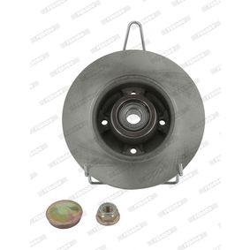 DDF1571 FERODO PREMIER Voll, mit ABS-Sensorring, mit Radlager Ø: 240mm, Lochanzahl: 4, Bremsscheibendicke: 8mm Bremsscheibe DDF1571-1 günstig kaufen