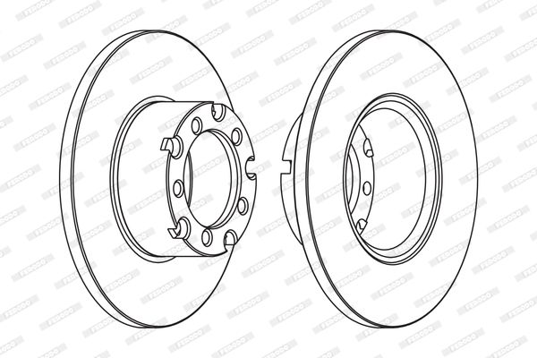 Buy FERODO Brake Disc FCR116A for MERCEDES-BENZ at a moderate price