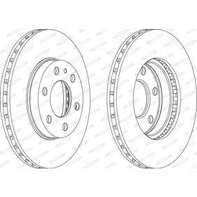 FCR314A FERODO PREMIER ventilerad Ø: 300mm, Hålant.: 6, Bromsskivetjocklek: 28mm Bromsskiva FCR314A köp lågt pris