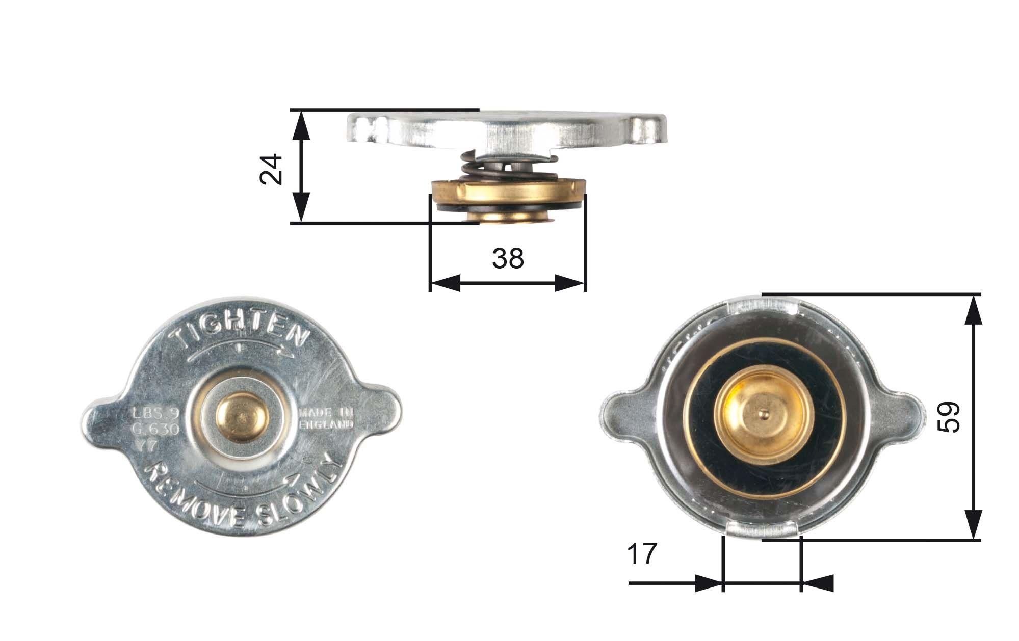 Kühlerverschlussdeckel GATES RC109