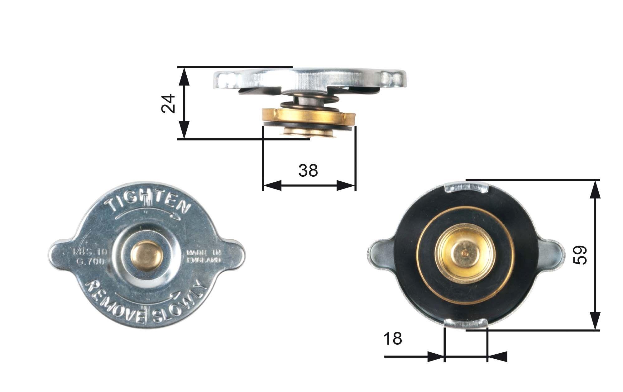 Original NISSAN Kühlerverschluss RC111