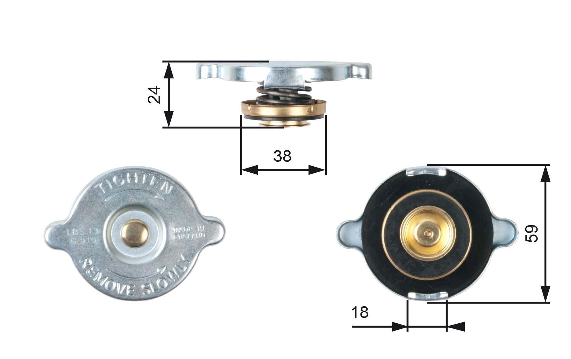 Original NISSAN Kühlerverschluss RC112