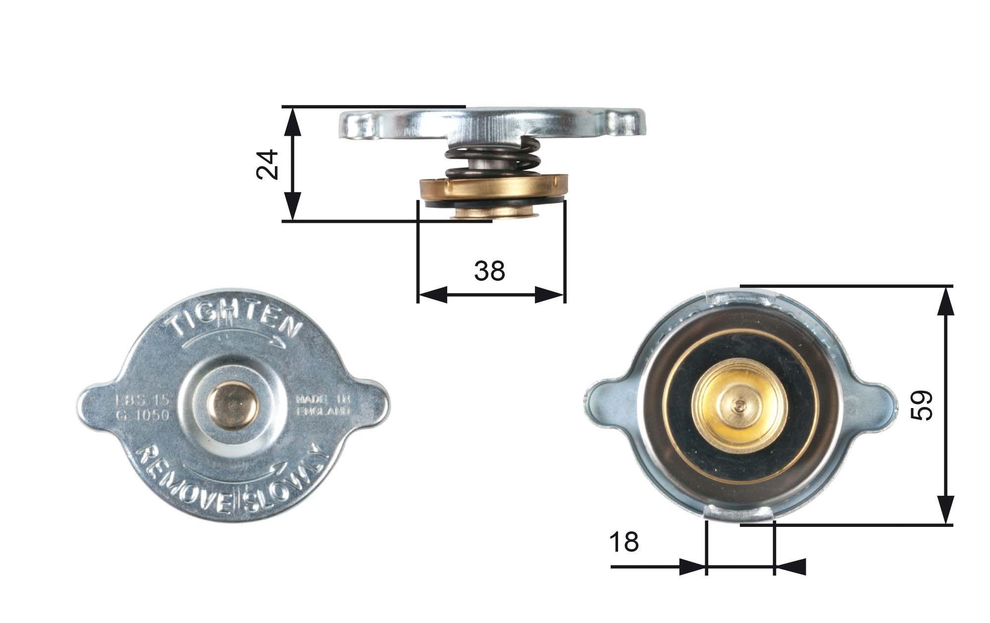 Kühlerverschluss GATES RC113