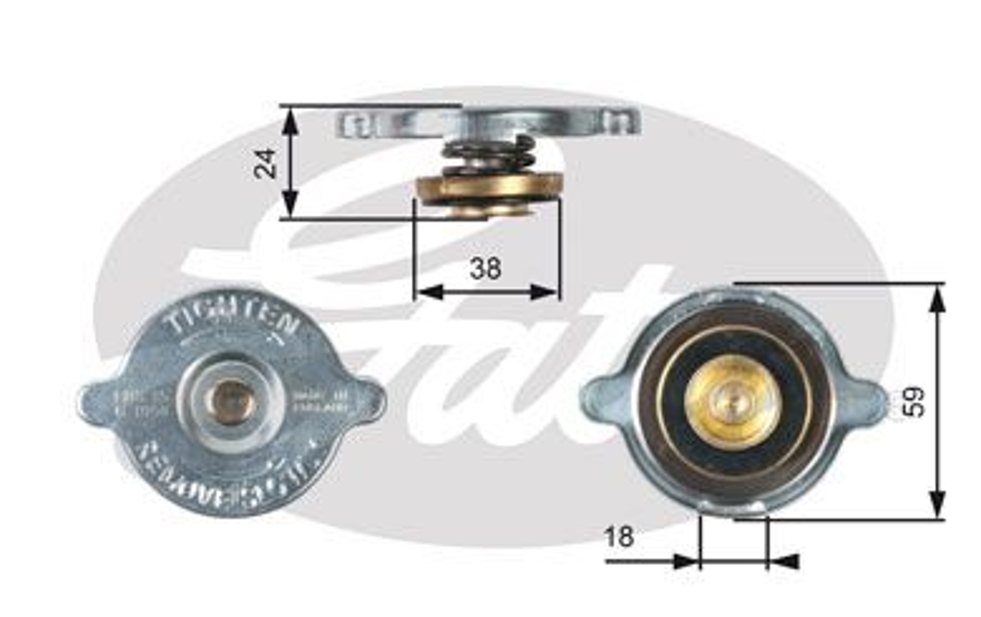 Buy GATES Sealing Cap, radiator RC113 truck