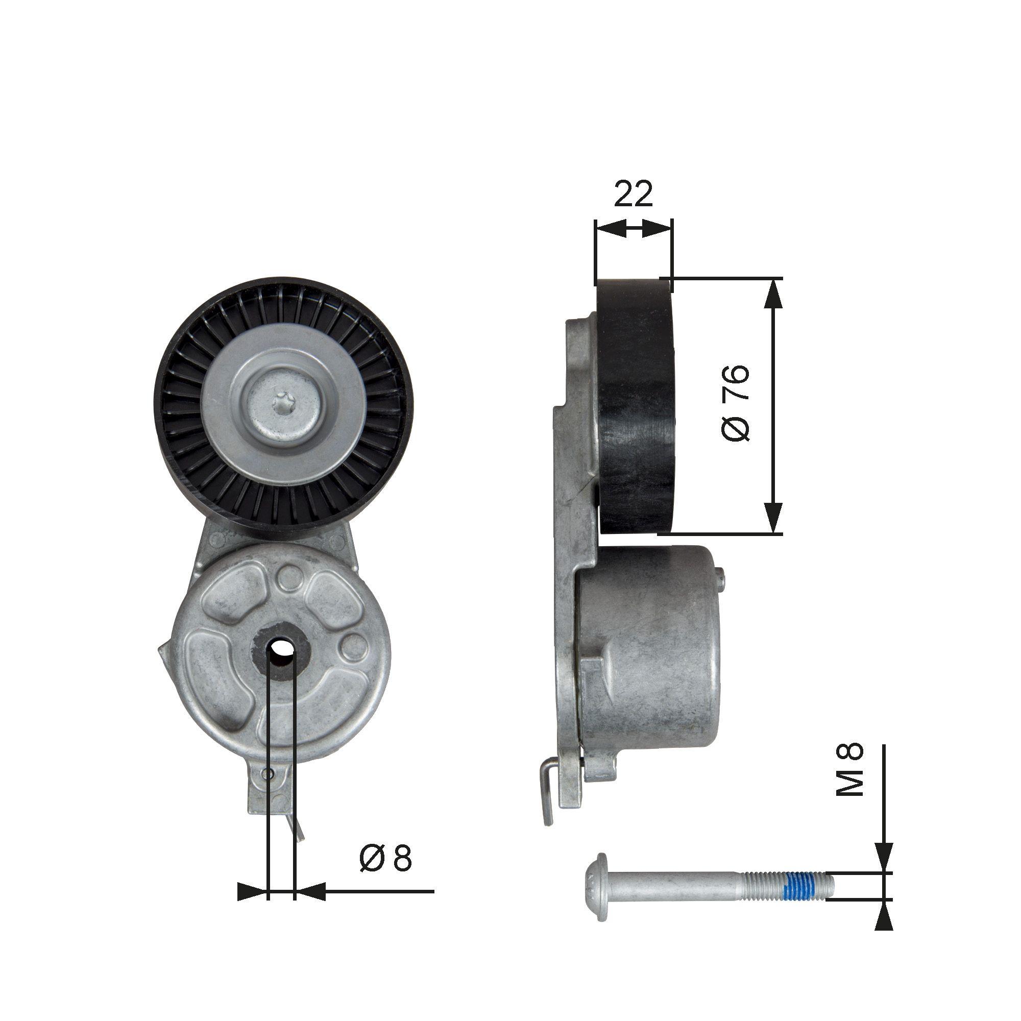 Original FORD Spannrolle T39141