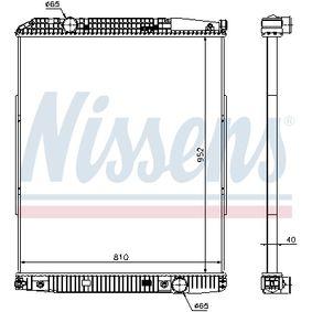 Kühler, Motorkühlung NISSENS 626490 mit 23% Rabatt kaufen