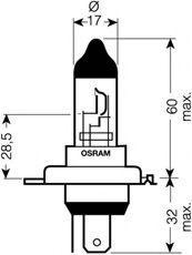 Купете 62203 OSRAM 100 / 80ват, H4, 12волт Крушка с нагреваема жичка, фар за дълги светлини 62203 евтино