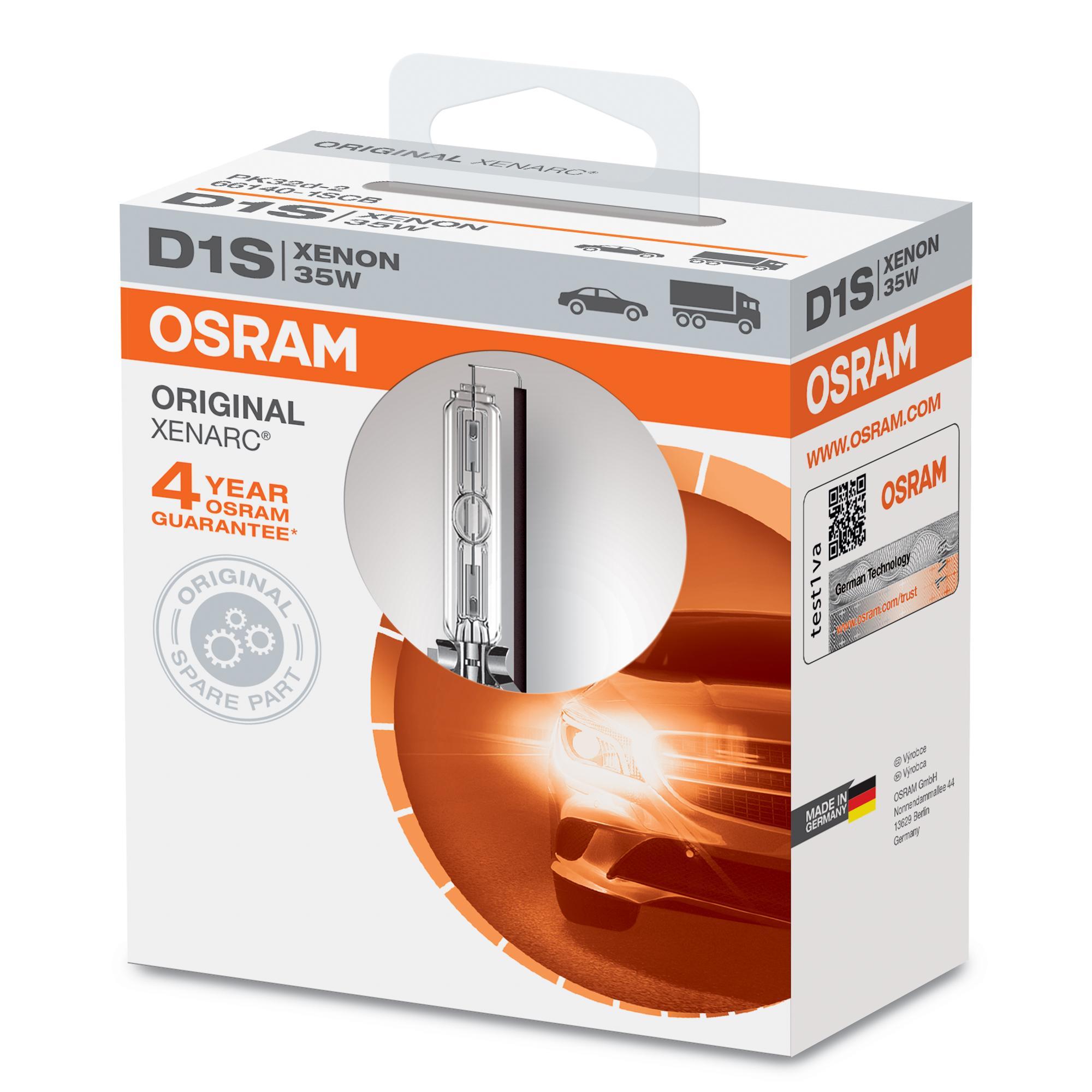D1S OSRAM XENARC ORIGINAL D1S (lâmpada de descarga de gás) 85V 35W PK32d-2 4300K Xenon Lâmpada, farol de longo alcance 66140 comprar económica