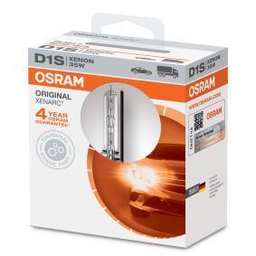 Pirkti D1S OSRAM XENARC ORIGINAL 35W, D1S(dujų išlydžio vamzdis), 85V Lemputė, prožektorius 66140 nebrangu