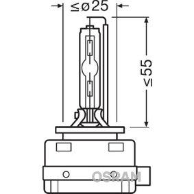 66140 Glödlampa, fjärrstrålkastare OSRAM originalkvalite