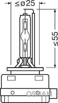 OSRAM Lemputė, priekinis žibintas 66140CLC