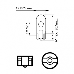 12040VPB2 Glühlampe, Rückfahrleuchte VisionPlus PHILIPS 52416030 - Große Auswahl - stark reduziert
