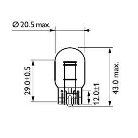 12066B2 Lampadina, Luce stop / Luce posteriore PHILIPS prodotti di marca a buon mercato