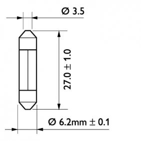 13818CP Glühlampe, Kennzeichenleuchte PHILIPS GOC48464228 - Große Auswahl - stark reduziert