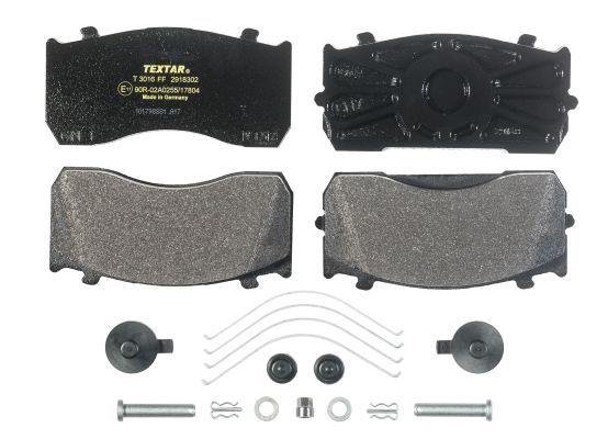 TEXTAR Bremsbelagsatz, Scheibenbremse für DENNIS - Artikelnummer: 2918302