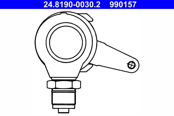 24.8190-0030.2 ATE Hebel, Bremssattel-Feststellbremse billiger online kaufen