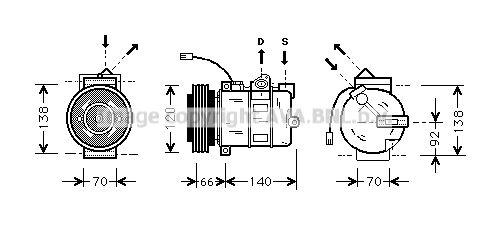 PRASCO Klimakompressor AIAK150