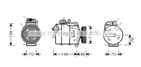 Kompressor Klimaanlage PRASCO AIAK226