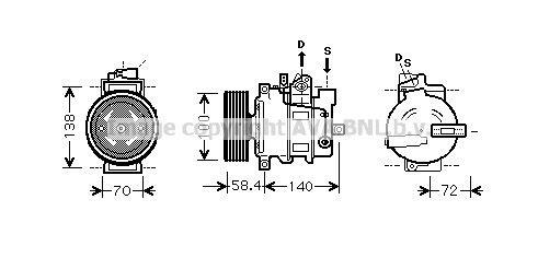 AIAK262 PRASCO Kältemittel: R 134a Riemenscheiben-Ø: 100mm Klimakompressor AIAK262 günstig kaufen