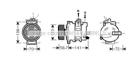 PRASCO Klimakompressor AIAK279