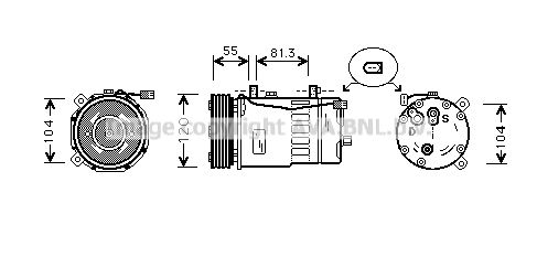 Kompressor Klimaanlage PRASCO AIK003