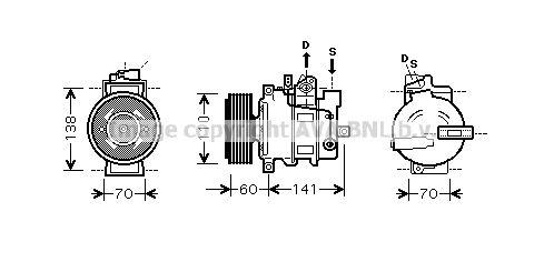 Klimakompressor PRASCO AIK271