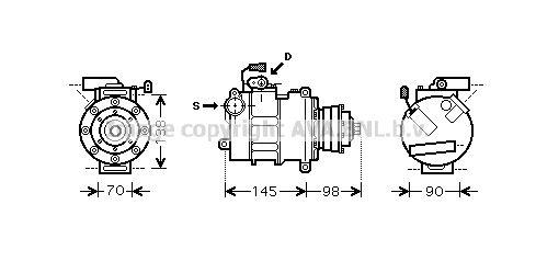 AIK280 PRASCO Kältemittel: R 134a Klimakompressor AIK280 günstig kaufen
