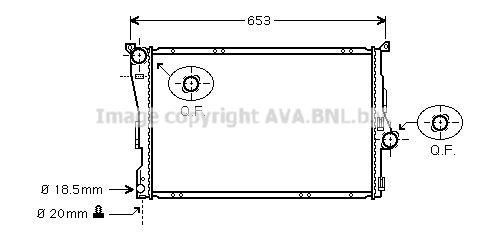 BM018R001 PRASCO Kühlrippen gelötet, Aluminium, Kunststoff Kühler, Motorkühlung BWA2205 günstig kaufen