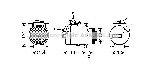 Original JAGUAR Klimakompressor BWAK389