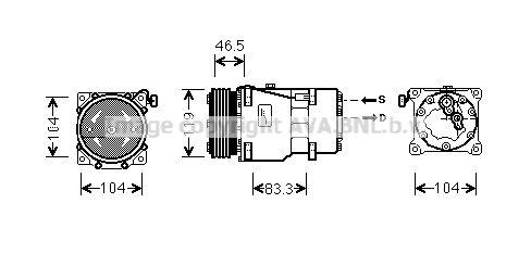 Original MITSUBISHI Kompressor Klimaanlage CNAK201