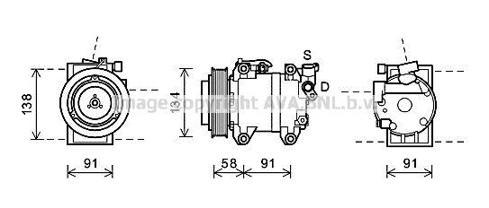 PRASCO Klimakompressor DNK344