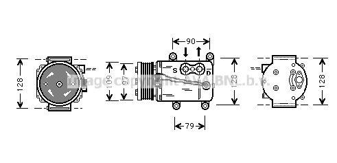 Original FORD Kompressor Klimaanlage FDAK105