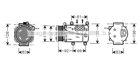 PRASCO Klimakompressor FDAK171