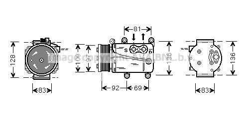 Original FORD Klimakompressor FDAK171