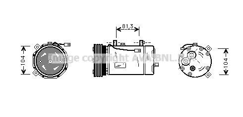 PRASCO Klimakompressor FDAK267