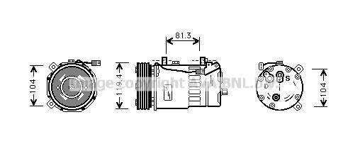 Original SEAT Kompressor Klimaanlage FDAK321