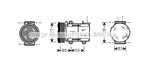 OE Original Kompressor Klimaanlage FDAK322 PRASCO