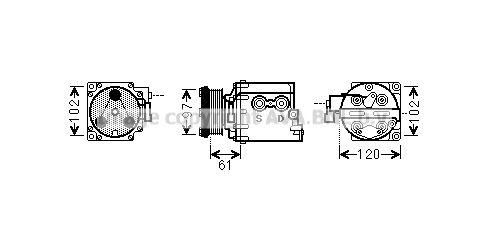 Original FORD Kompressor FDAK436