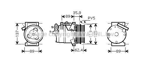 Original FORD Kompressor Klimaanlage FDK433