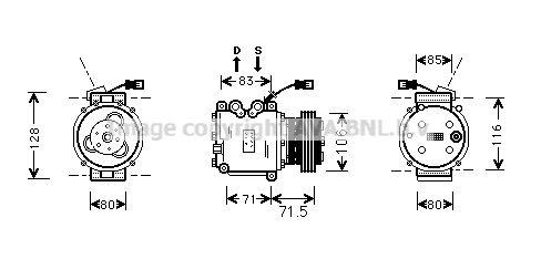 Original JAGUAR Kompressor Klimaanlage HDAK009