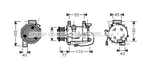 Original HONDA Kompressor HDAK208