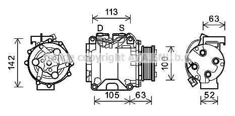 Original HONDA Klimakompressor HDAK237