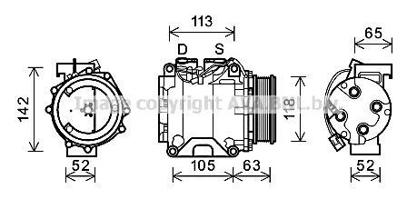 Original HONDA Kompressor HDAK238