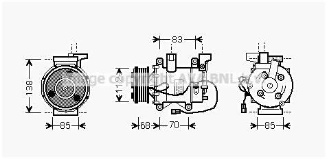 Original HONDA Klimakompressor HDK207