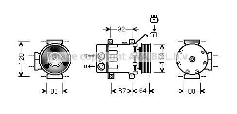 Original MITSUBISHI Klimakompressor JEAK047