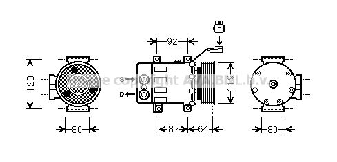 JEAK047 PRASCO Kältemittel: R 134a Riemenscheiben-Ø: 119mm Klimakompressor JEAK047 günstig kaufen